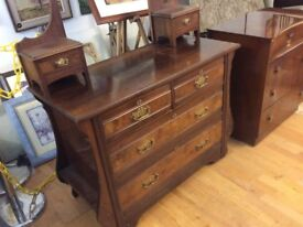 Vintage chest of drawers with vanity mirror