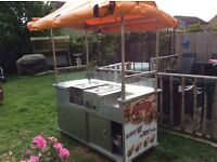 HOT DOG CART PROFESSIONALLY BUILT BY VIZU IN READING CAN BE ELECTRIC OR LPG