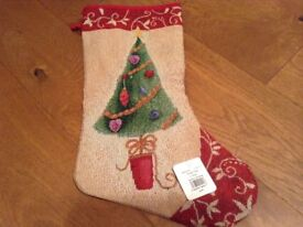 TAPESTRY CHRISTMAS STOCKING - New