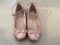 Sparkly Pink Girl Ballerina Shoes - size 1