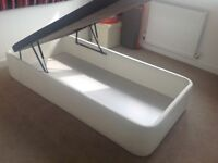 Single storage bed, memory mattress and bedding