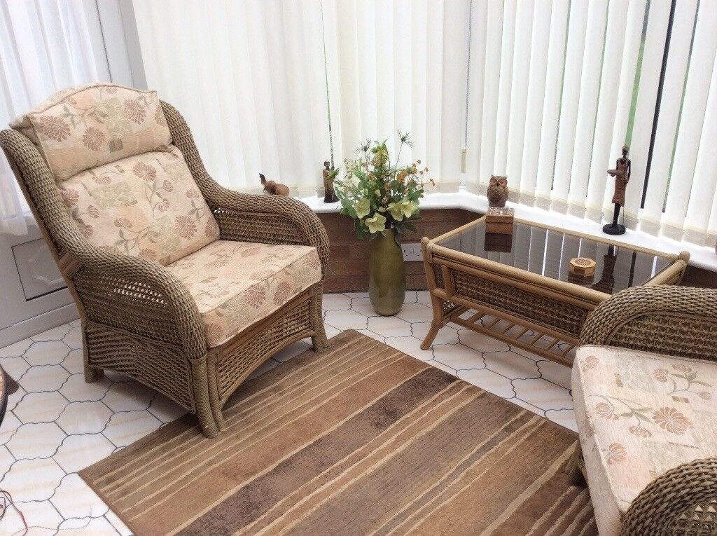 Conservatory chairs and coffee table