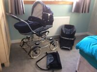 Bebecar pram, seat, cot, changing bag