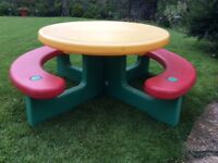 Little Tikes Picnic Bench and separate seat
