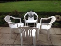 SET OF GARDEN CHAIRS