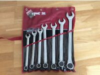 Sidchrome 7 piece (21mm-36mm) metric combination spanner set - brand new.