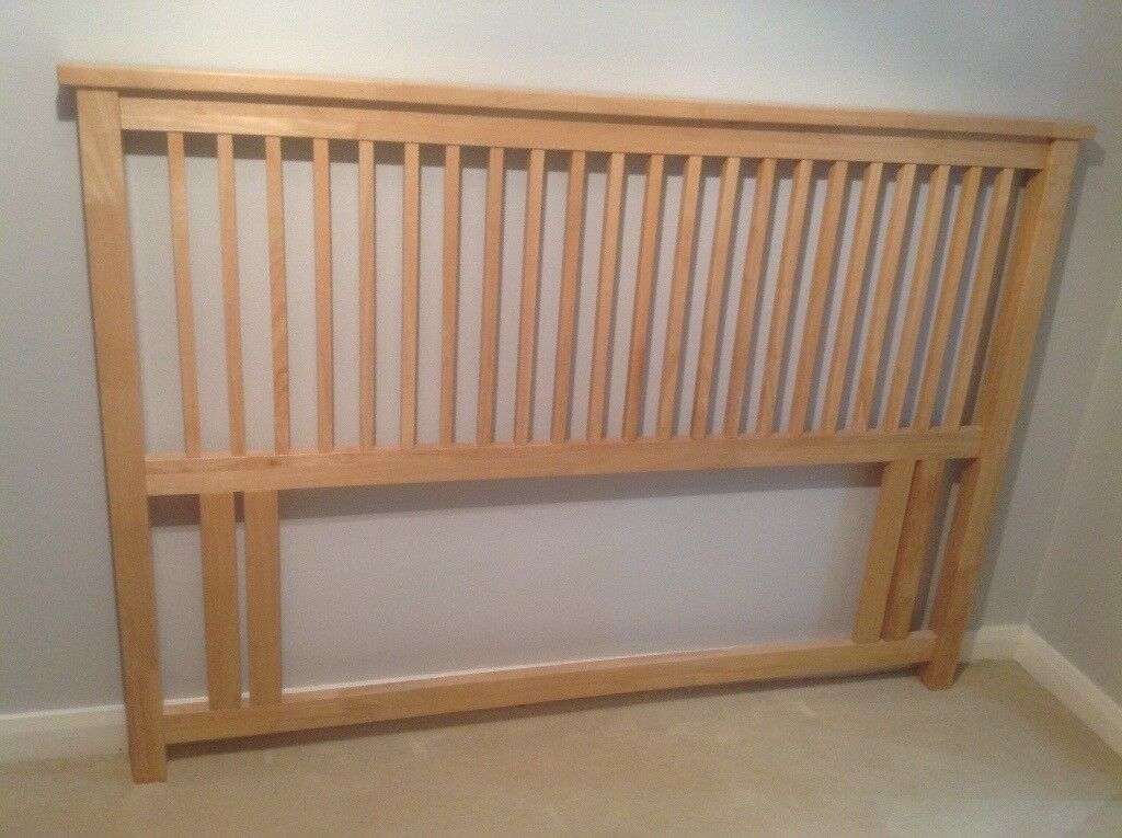 Oak slatted king size headboard