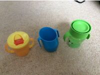 Various baby toddler cups