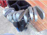 Peter Alliss Golf Clubs And Bag