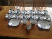 For Sale 41 Piece SHELLEY Tea Set