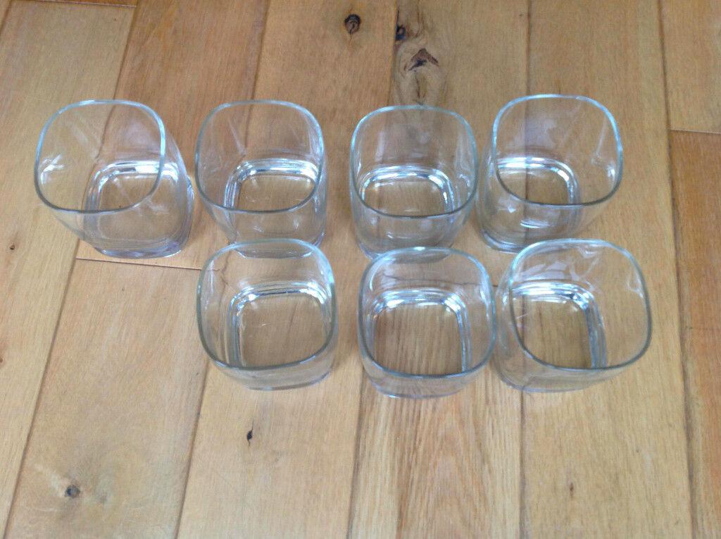 Set of 7 glasses