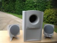 Boston Acoustics surround sound speakers with sub woofer