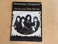 Sheet Music for Queen's Bohemian Rhapsody & I'm in Love with Car