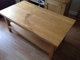Oak centre table