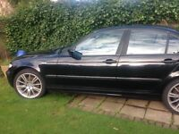 Bmw 320d black in colour black leather interior six speed Manuel gearbox a great car