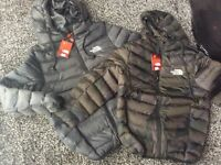 BRAND NEW KIDS COATS NORTHFACE AGES 7/8 & 9/10
