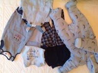 Baby boy clothes bundle (7 x items) for Birth to 3 or 4 months