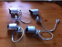 4 white infer red camera's