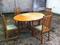 Table an four chairs