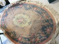 Old wool oval rug