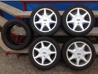 "Ford Fiesta Alloy wheels RS 7spoke 15"" snow tyres fitted"