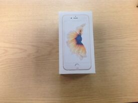 iPhone 6s. Brand new in sealed box. Rose gold. Unblocked. Never used.