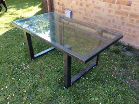 HIGH END BESPOKE METAL / GLASS COFFEE TABLE