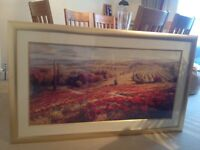 Large framed print of 'red poppy panorama' by Lombardi