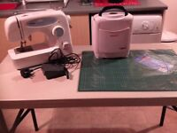 Brother sewing machine, table and accessories