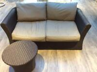 Marks & Spencer Two Seater Sofa and Side Table - Cost over £600 (with receipt shown)