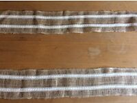 Rustic table runners 10m hessian and lace