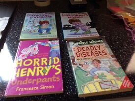 Children's books horrid henryx3. Horrible science x1