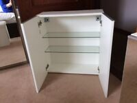 2 Mirror fronted bathroom wall cabinets