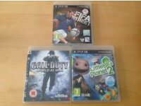 3 x PS3 Games - FIFA Street, Call of Duty World at War & Little Big Planet 2