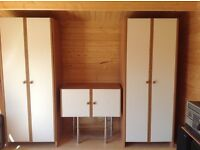 Large bedroom wardrobes and cabinet