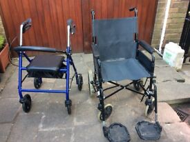 FOR SALE WHEELCHAIR AND WALKER.