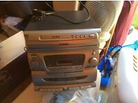 Recorder double tape cd and radio with a large speaker