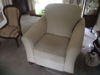 M&S Altai Chenille Ivory Reclining Armchair