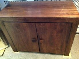 Excellent condition Dakota solid mango wood furniture tv unit and sideboard unit