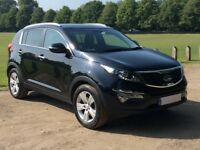 2013 Kia SPORTAGE 1.6 '2' BLACK One owner with full service history IMMACULATE