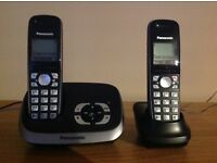 Panasonic KX-TG6521E digital cordless phone with answerphone and twin handset