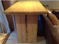 Solid teak dining/bar table