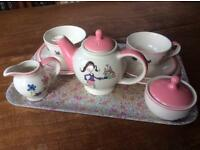 Children's ceramic tea set - Whittard of Chelsea hand painted collection