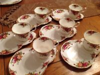 Royal Albert old country rose tv cup& plate