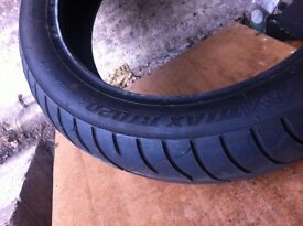 bike tyres front and back 120// to 170/180/190 part worn