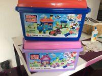 Girls & boys box of Mega Bloks Lego £10 each