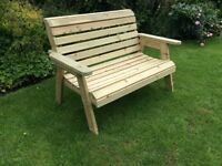 Quality Timber Garden Bench & Chairs