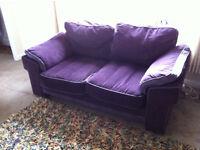 Comfy 2 seater purple sofa