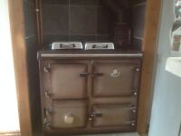 Rayburn Supreme multi fuel central heating cooker.