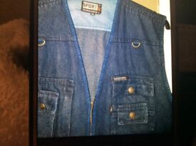 Brand new men's denim guillets